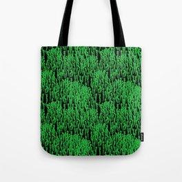 Cascading Wisteria in Green + Black Tote Bag