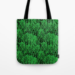Cascading Wisteria in Green + Black Tote Bag