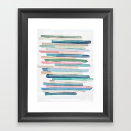 Pastel Stripes 1 Framed Art Print