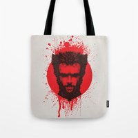xmen Tote Bags featuring Logan by Fimbis
