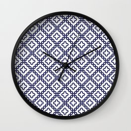 romanian popular motif Wall Clock
