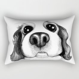 Sketch of a Spaniel who wants his belly rubbed! Rectangular Pillow