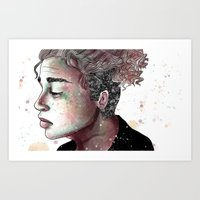 Playing with the Air Art Print