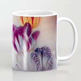 painted tulips on pastell background -b- Coffee Mug
