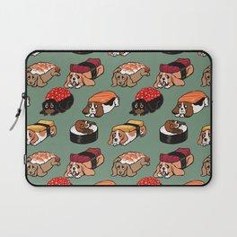 Sushi  Basset Hound Laptop Sleeve