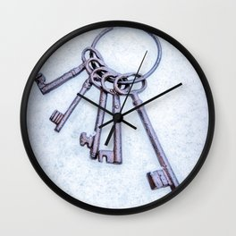Rusty Keys Wall Clock