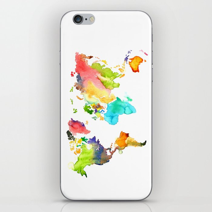 Watercolor World iPhone Skin