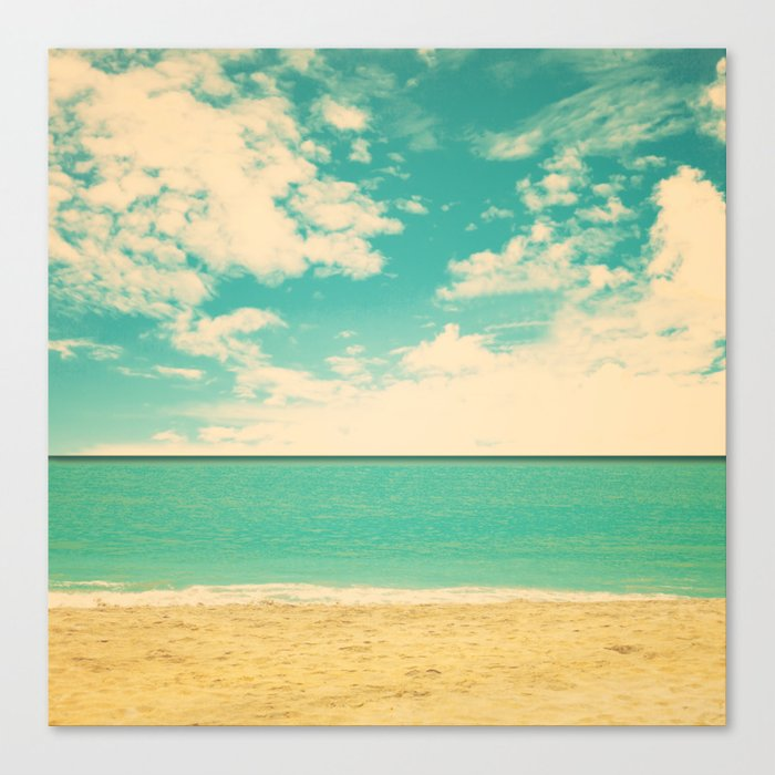 Retro Beach Canvas Print