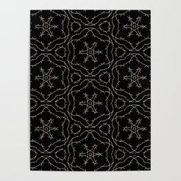 Antique Black and Gold Pattern Design Poster