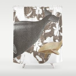whale away Shower Curtain