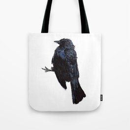 Watercolor and Pen Bird Tote Bag