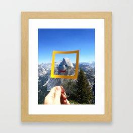 Half Dome Nature Face Framed Art Print