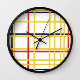 Mondrian's New York City I (High Resolution) Wall Clock