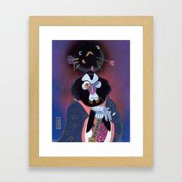 Monkey In a Dress Framed Art Print