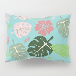 Tropical leaves Aqua paradise #homedecor #apparel #tropical Pillow Sham