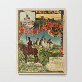 Vintage French railroad advertising 1897 Metal Print