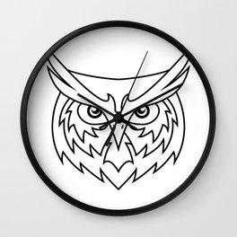 Wisdom - B&W Wall Clock
