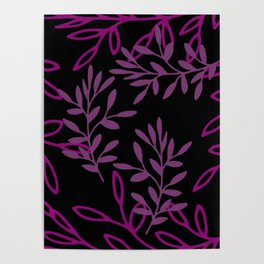 Leafy Pink Poster