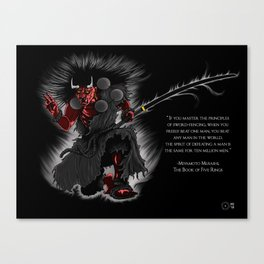 Oni Demon Canvas Print