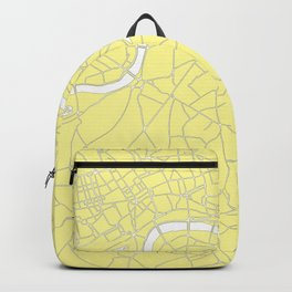 London Yellow on White Street Map Backpack