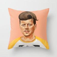 Hipstory -  John F Kennedyn Throw Pillow