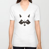 rocket raccoon V-neck T-shirts featuring Rocket Raccoon - Log Trap by d00d it's jake