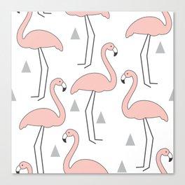 vintage pink flamingos Canvas Print