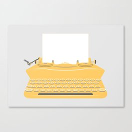 The Lonely Typewriter {mustard} Canvas Print