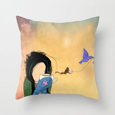 T-bird Throw Pillow