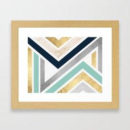 Pattern zig zag textures Framed Art Print