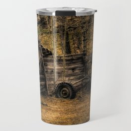Visions Of The Past - Rustic Shed Travel Mug