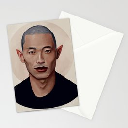Elf Portrait Stationery Cards