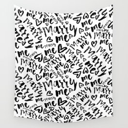 MARRY ME - romantic collection in black and white Wall Tapestry