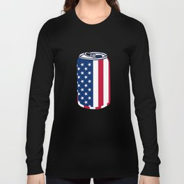 American Beer Can Flag Long Sleeve T-shirt