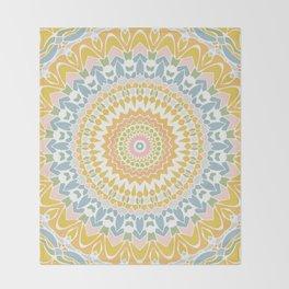 Pastel Pebbles Mandala Throw Blanket