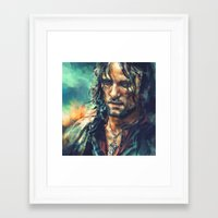 lotr Framed Art Prints featuring Elessar by Alice X. Zhang