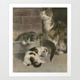 Bonsall, Elizabeth (1861-1956) - The Book of the Cat 1903, 2 Art Print