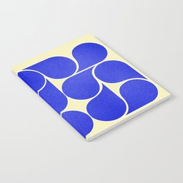 Blue mid-century shapes no8 Notebook