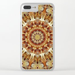Flower Of Life Mandala (Nature's Magic) Clear iPhone Case