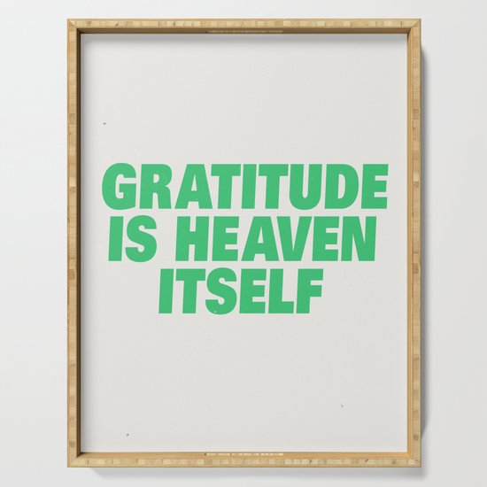 Gratitude by subliming