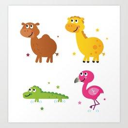 New africa animals Kids toy Edition Art Print
