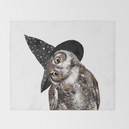 Happy Halloween Owl Throw Blanket