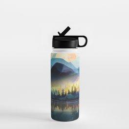 Mountain Lake Under Sunrise Water Bottle