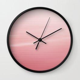 Pink Ombré Wall Clock