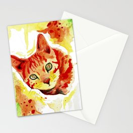 Bengal Cat Watercolor Art Stationery Cards