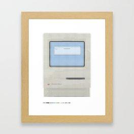 Pantone as pixel Mac Framed Art Print