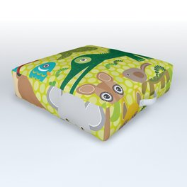 Animals Australia snake, turtle, crocodile, alliagtor, kangaroo, dingo Outdoor Floor Cushion