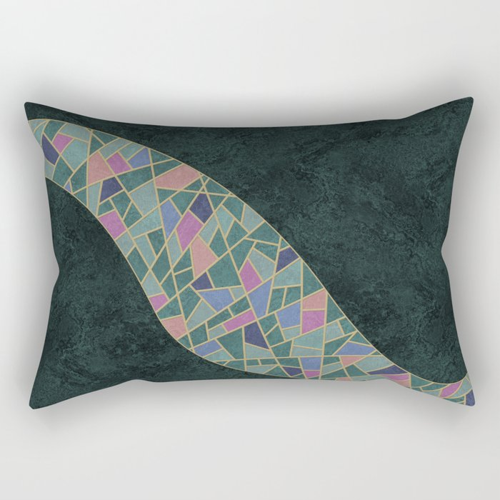 Geometric Marble 02 (abstract) Rectangular Pillow