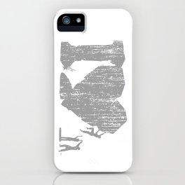 I Love Bouldering (white) iPhone Case