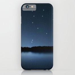 Ursa Major star constellation, Night sky, Cluster of stars, Deep space, Great Bearconstellation iPhone Case
